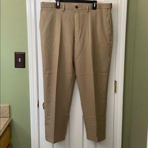 Men's Haggar Khaki Dress Pants Classic Fit